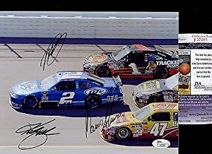 Kurt Busch Miller Lite Car +2 Signatures Signed Photo 8x10 Coa #j37091 - JSA... by Sports Memorabilia