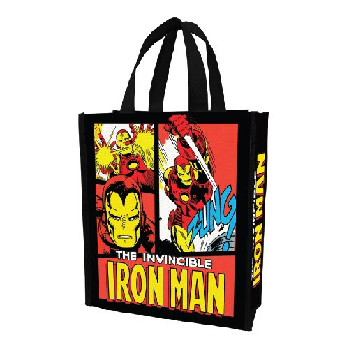 Vandor 26473 Marvel Iron Man Small Recycled Shopper Tote, Multicolor front-152028