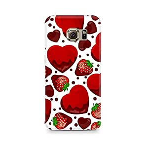 Mobicture Strawberry and Hearts Premium Printed Case For Samsung S6