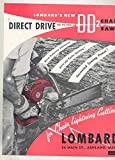 1957 Lombard Model DD2 Chainsaw Brochure