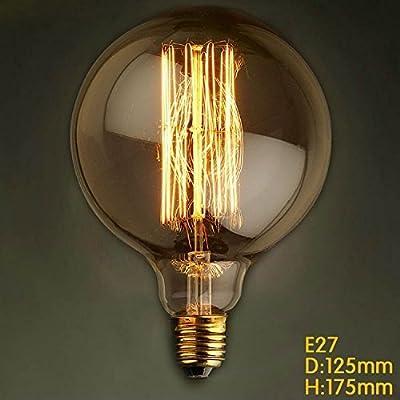 E27 G125 Straight Wire Large Bulb Bulb Edison Retro Decorative Light Bulbs