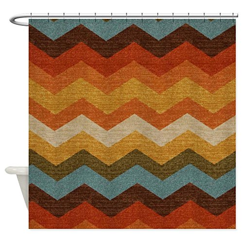 Shower Curtain - Southwestern Burlap Zigzags Shower Curtain 66x72 (Southwestern Shower Curtain compare prices)