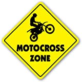 MOTOCROSS ZONE Sign dirt bike supercross cycle gear