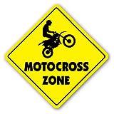 MOTOCROSS ZONE - Sign - dirt bike supercross cycle gear