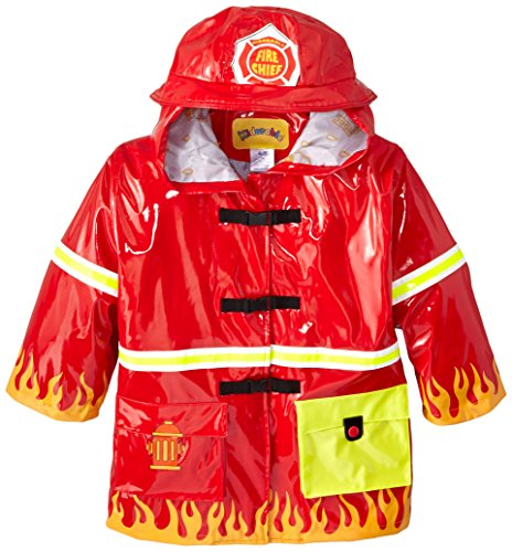 Kidorable Little Boys' Fireman Raincoat, Red, 5/6