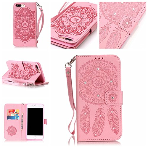 BONROY® Coque pour iPhone 7 Plus (5,5 Zoll),Housse en cuir pour iPhone 7 Plus (5,5 Zoll),imprimé étui en cuir PU Cuir Flip Magnétique Portefeuille
