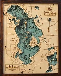 Long Lake Topographic Map by Woodchart