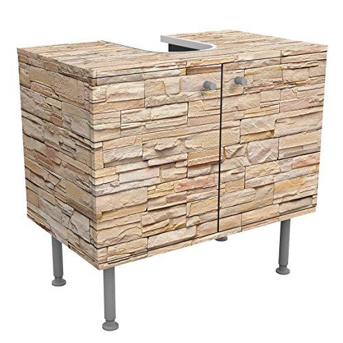 Mueble-bajo-armario-Design-Asian-Stonewall-Large-Brigth-Stone-Wall-of-Cosy-Stones-60-x-55-x-35-cm-pequeo-60-cm-de-ancho-ajustable-mesa-de-lavabo-armario-de-lavabo-lavabo-mueble-bajo-baera-cuarto-de-ba