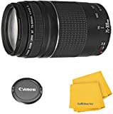 Canon EF 75-300mm f/4-5.6 III Zoom Lens for Canon EOS 7D, 60D, EOS Rebel SL1, T1i, T2i, T3, T3i, T4i, T5i, XS, XSi, XT, XTi Digital SLR Cameras w/Celltime Cleaning Cloth