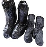 突然の雨雪対策に! 雨 雪 靴カバー アームカバー バイク 自転車 防水 2セット 雨具 反射板 付き