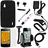 51FMyVCLZ2L. SL160  GTMax 9 Items Essential Accessories Bundle Kit for LG Google Nexus 4 E960 (T Mobile) includes Case, Screen Protector, Charger, Cable, Holder, Headset, Stylus, Pen Reviews