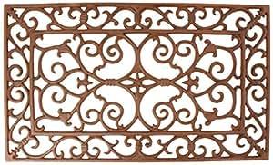"""Esschert Design Small Doormat in Antique Brown - Rectangle 24"""" x 14"""""""