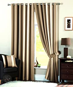 Curtain natural cream chocolate brown beige gold curtain 90 quot quot x 90