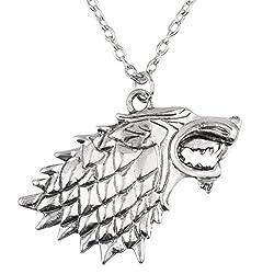 Game of Thrones House Stark Wolf Pendant - 3