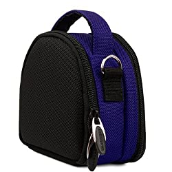 VangoddyTM Magic Blue VG Laurel Edition Stylish Nylon Camera Carrying Case Pouch