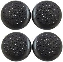 SODIAL(R) Nuevo Joystick reemplazo agarre pulgar palo Pulgar tapas F Sony PS4 Controlador 2 pares - Negro