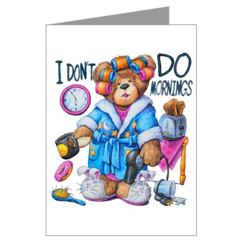 Greeting Cards (20 Pack) I Don't Do Mornings