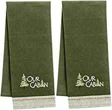 Our Cabin Embroidered Towel Set of 2