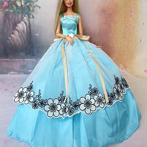 Youvinson-Varios-vestidos-de-novia-hechos-a-mano-y-ropa-para-muecas-Barbie-Azul-2