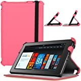 CaseCrown Ace Flip Case (Sizzling Hot Pink) for Amazon Kindle Fire