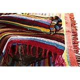 Fair Trade Handmade Recycled Rag Rug Large 6 x 4ft