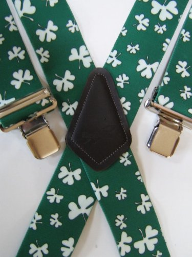 MENS BRACES IRISH SHAMROCK DESIGN from M.K.TOOLS