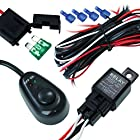 #1 40 Amp Universal Wiring Harness for Off Road LED Light Bars Relay ON/OFF Switch and LED Work Light Lamps ATV, UTV, Truck, SUV, Polaris Razor RZR, Yamaha, Ranger