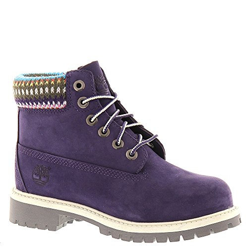 """Timberland 6"""" Premium Girls' Infant-Toddler-Youth Boot 9 M Us Toddler Purple front-969680"""