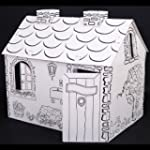 HomCom Buildable Paper Playhouse Colo...