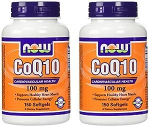 NOW Foods Coq10 100mg 2*150 Softgels