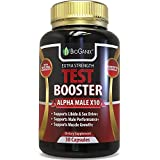 Testosterone Booster Supplement - Alpha Male Max Potency Natural Test Booster Pills & Libido Enhancer For Men To Increase Sex Drive & Build Muscle Mass - Maca, Tribulus, Fenugreek, Tongkat Ali