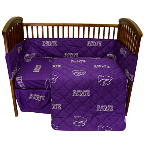 College Covers Kansas State Wildcats 5 piece Baby Crib Set