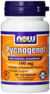 Now Foods Pycnogenol Veg Capsules, 100 mg, 60 Count