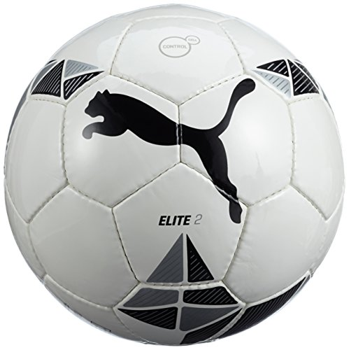 PUMA, Pallone, Bianco (white-Black-Metallic silver), 5