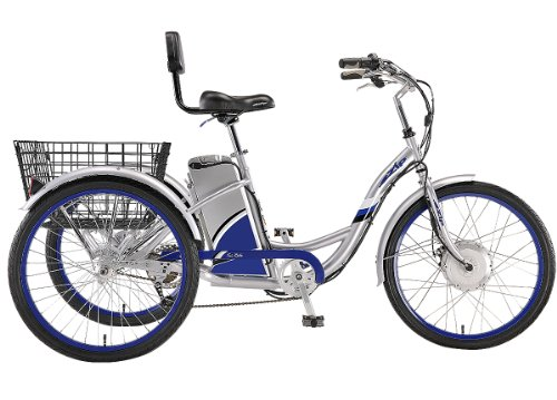 EZIP Tri-Ride electric Three Wheels tricycle - Silver