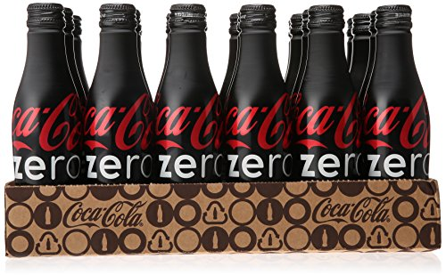 Coca-Cola Zero Aluminum Bottles, 8.5 fl oz (Pack of 24) (Soda Aluminum Bottle compare prices)