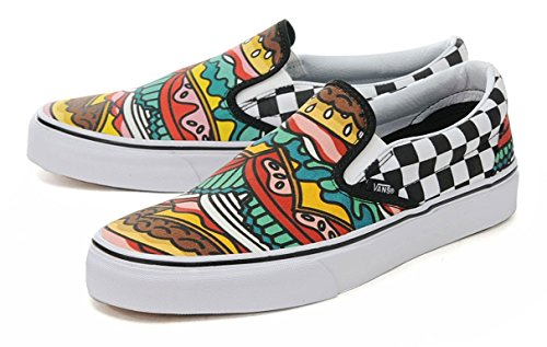 [バンズ] VANS CLASSIC SLIP-ON (LATE NIGHT) BURGER/CHECK クラシックスリッポン vn0003z4irv 26.0㎝