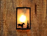 Logam Horse Metal Wall Light