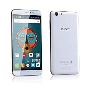 Cubot NOTE S:5.5 Inch Quad Core Android 5.1 lollipop OS SIM Free unlocked 3g Smartphone (2G RAM+16G ROM,HD Display,Dual Camera,Dual Sim Dual Standy,cost-effective) (White)