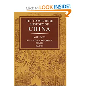 CAMBRIDGE CHINA HISTORY OF THE