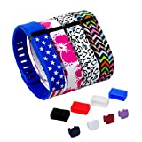 DigiHero 4 pcs Small Size Wristbands Replacement Band With Clasps for Fitbit FLEX Only /No tracker/ Wireless Activity Bracelet Sport Wristband Fitbit Flex Bracelet Replacement Arm Band Armband