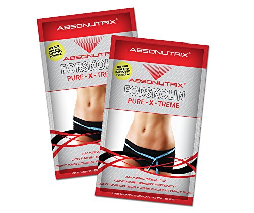 2 Absonutrix Forskolin Pure Xtreme 20% Extract-30 Topical Weightloss Patches