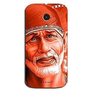 Mozine Shirdi Sai Baba Printed Mobile Back Cover For Motorola Moto G 2nd Gen