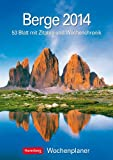 Berge 2014: Harenberg Wochenplaner. 53 Blatt mit Zitaten und Wochenchronik