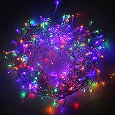 LEAZEAL 300 LED Christmas Lights String Fairy Lights for Indoor Outdoor Party Wedding Decoration 24V(Multi Color)