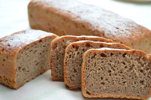 ライ麦全粒100%パン・・・混じりけなし、ライ麦全粒粉が100%で、酸味が少...