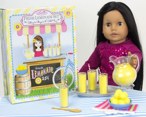 Sophia'S Play Food Lemonade Set Perfect For Dolls Or Plush (9-Piece)