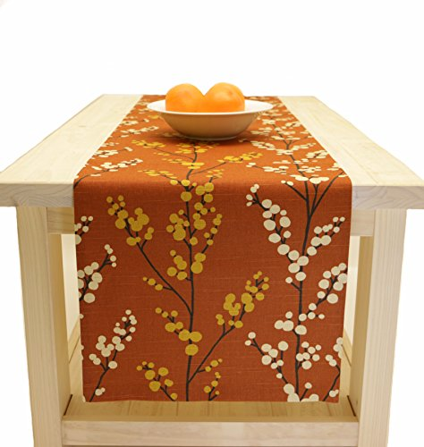 Fall table runner fall thanksgiving rust brown table for 120 inches table runner