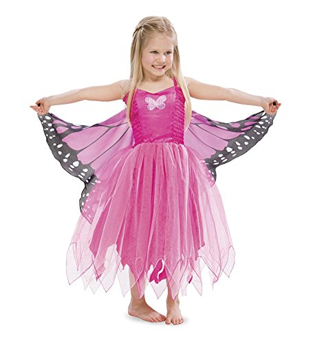 Douglas Toys Childrens' Butterfly Pink Dreamy Dress-up Costume - Small