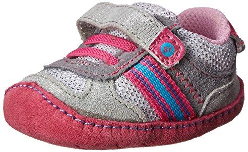Stride Rite Sesame Street Crawl Abbey Crib Shoe (Infant/Toddler),Silver/Pink,1 M Us Infant front-746988
